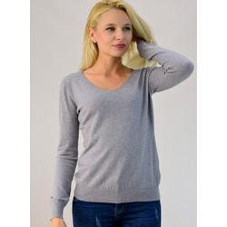 fd1429d967a2 Πλεκτή μπλούζα με V λαιμόκοψη