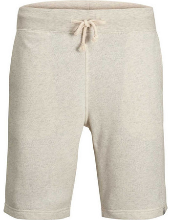 323384d88395f Jack Jones - 12133928 - Jorcolour Sweat Shorts - White Melange - Βερμούδα