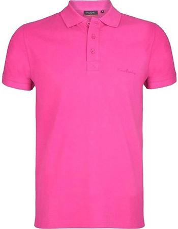 Pierre Cardin Ανδρικό μπλουζάκι polo T-Shirt με κοντό μανίκι και κουμπιά σε  Φούξια χρώμα 03153d20736