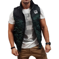 Basehit Fake Down Quilted Vest Jacket 182.BM10.135-Forest-Black d20b235a555