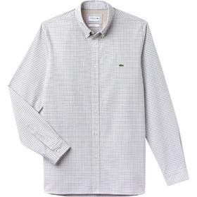 0979555e7ddf Lacoste ανδρικό πουκάμισο με καρό μικροσχέδιο The 4 Essential Shirts of the  Season - CH0487 -