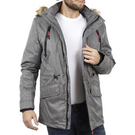 7f00c715f01 Ανδρικό Μακρύ Μπουφάν Parka Jacket με Κουκούλα ICE TECH G629 Γκρι