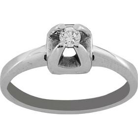 Δαχτυλίδι μονόπετρο λευκόχρυσο 18 καράτια με μπριγιάν 0.10ct 75745065083