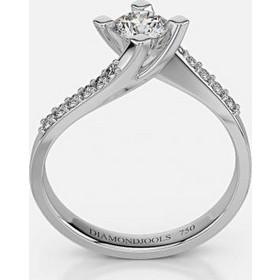 Λευκόχρυσο Κ18 μονόπετρο δαχτυλίδι αρραβώνα με μπριγιάν 0.19ct+0 506c4426024