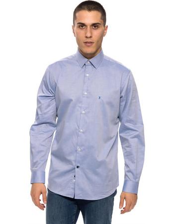 The Bostonians ανδρικό πουκάμισο μακρυμάνικο μονόχρωμο - AMP1233 - Γκρι  Γαλάζιο 113ef592d65