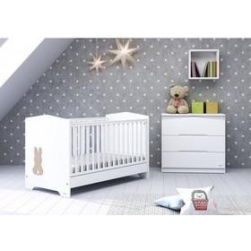 fa5ae751f31 Βρεφικό μετατρεπόμενο σε εφηβικό κρεβάτι Casababy - Bunny + Δώρο στρώμα