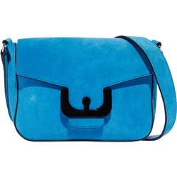 052251fcbe Coccinelle γυναικεία τσάντα Ambrine Cross Suede - E1DJ6-150101 - Μπλε