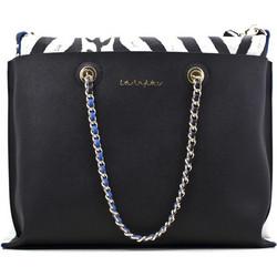 bf06df2523 Γυναικεία τσάντα Blu Byblos διπλή 670200001 ΜΑΥΡΗ