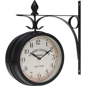 Διακοσμητικό Ρολόι Τοίχου Μεταλλικό Σταθμού 33x9cm d6cbe973d02