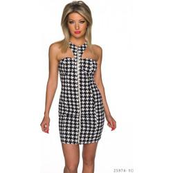 6a90a52e04e6 Φόρεμα Μαύρο-Άσπρο με σχέδιο