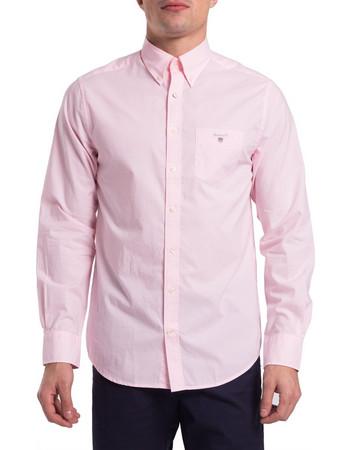 Gant ανδρικό μονόχρωμο πουκάμισο Broadcloth Regular - 3046400 - Ροζ 1fbd4217f0c