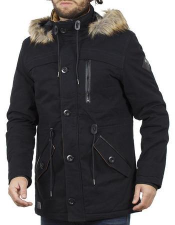 Ανδρικό Μακρύ Μπουφάν Parka Jacket με Κουκούλα ICE TECH G638 Navy 090352317bf
