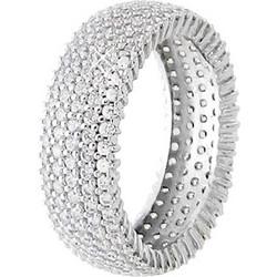 Λευκόχρυσο ολόβερο δαχτυλίδι Κ14 με ζιργκόν DS055A 68662981d1a