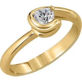 Μονόπετρο δαχτυλίδι Κ18 χρυσό με διαμάντι κοπής brilliant - MBR062G a21d3b3979d