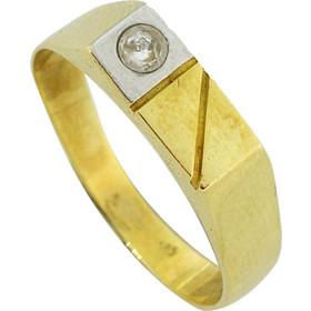 Ανδρικό δαχτυλίδι χρυσό 14 καράτια με ζιργκόν 7199909a678