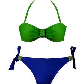 110af2cef1f Luna πράσινο-μπλε σετ μαγιό strapless B & brazilian slip Tropea 91111