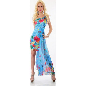 56c3f027ac84 31029 SD Σέξυ μινι ασύμμετρο φόρεμα - Μπλε