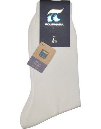 ΠΟΥΡΝΑΡΑ Πουρνάρα Ανδρικές Κάλτσες Βαμβακερές Λευκό ed11e1b04c9