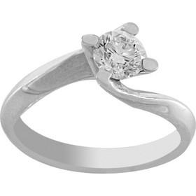 Δαχτυλίδι μονόπετρο λευκόχρυσο 18 καράτια με μπριγιάν 0.61ct 1957f27647f