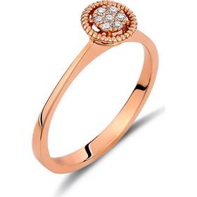 Δαχτυλίδι illusion από ροζ χρυσό 18 καρατίων με διαμάντια. KV19779R 2db1b7f1ce3