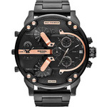 Diesel XXL MR Daddy 2 Black Stainless Steel Chronograph DZ7312