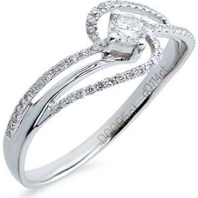 Δαχτυλίδι μονόπετρο Κ18 λευκόχρυσο - M718024 15cf68a3e43