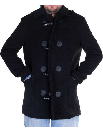 Ανδρικό Παλτό Μοντγκόμερι Glence σε χρώματα - BLACK 8a2242c5ae9