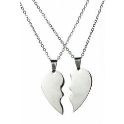 Μενταγιόν καρδιά διπλό με αλυσίδα ανοξείδωτο ατσάλι 313b3b6e17e