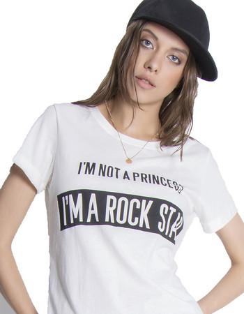 T-shirt Rock Star - Λευκό 4caeef9674d