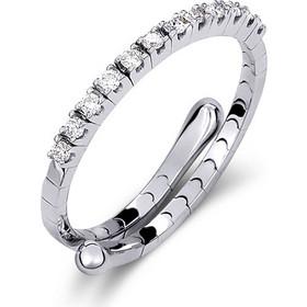 Δαχτυλίδι μισόβερο από λευκό χρυσό 18 καρατίων με διαμάντια 0 403530ddd10
