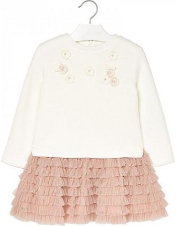Παιδικό Φόρεμα Mayoral 18-04934-046 Εκρού Κορίτσι 60a9673f3ce