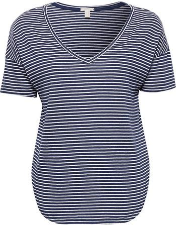 76dd63485378 Esprit γυναικεία μπλούζα ριγέ κοντομάνικη - 078EE1K002 - Μπλε Σκούρο