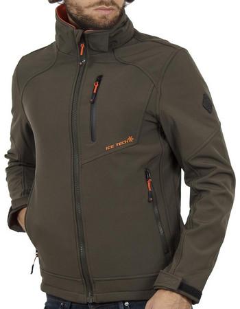 Ανδρικό Μπουφάν Jacket με Κουκούλα ICE TECH G604 Χακί 2db26bb3a38