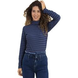 Γυναικεία μπλε μπλούζα ζιβάγκο ζακάρ σχέδιο 39922 5433fe3c411