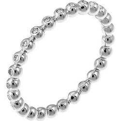 Δαχτυλίδι ολόβερο από λευκό χρυσό 18 καρατίων με διαμάντια. SP19306W de24f2c87db