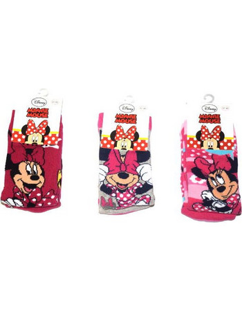 Κάλτσα παιδική Disney πετσετέ Minnie με πατουσάκια 66da8bd1c32