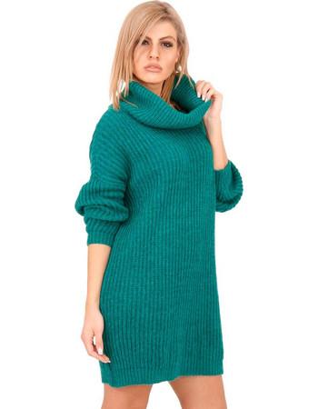 ef821b2bcc21 Πράσινο Πλεκτό Μπλουζοφόρεμα Ζιβάγκο Πράσινο Silia D