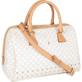 9c70705625 Τσάντα Χειρός-Tote Με Τρουκς La Tour Eiffel Logo-Δέρμα 6396 Λευκή-Μόκα