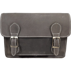 DOMLEATHERS DOMLEATHERS CASUAL SATCHEL ΔΕΡΜΑΤΙΝΗ ΤΣΑΝΤΑ ΩΜΟΥ No S-32 ΚΑΦΕ  OIL PULL UP bc2c490409c
