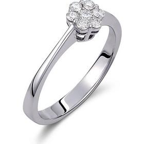 Δαχτυλίδι illusion από λευκό χρυσο 18 καρατίων με ένα κεντρικό και 6 περιμετρικά  διαμάντια που δημιουργούν 7079d1dad58