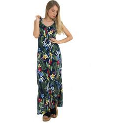 22849f602c5e Γυναικείο μάξι πουκαμισοφόρεμα Coocu μπλε φλοράλ 92464C