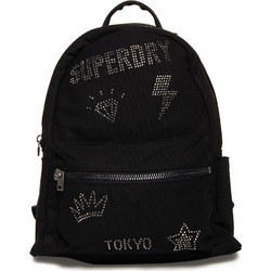 5c4ed698a6 SUPERDRY WOMAN MIDI BACKPACK RHINESTONE BLACK