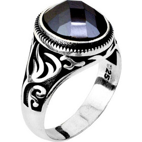 3a3813ea8c Ασημένιο ανδρικό δαχτυλίδι 925 με αχάτη DSLA057A