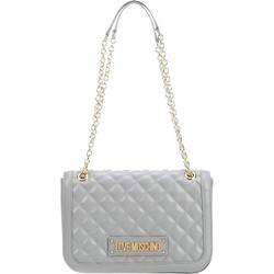 0b594c5d6e Love Moschino γυναικεία τσάντα crossbody με αλυσίδα καπιτονέ -  JC4003PP17LA0 - Ανθρακί