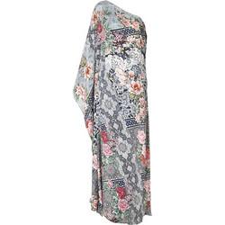 1de9609b53a Φόρεμα Μακρύ Με 1 Ωμο Μπλε Εμπριμέ Με Λουλούδια One Size (Crepe)