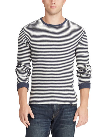 7a6281d6612a Polo Ralph Lauren ανδρική μπλούζα ριγέ Striped Waffle-knitted T-Shirt -  710720889001 -