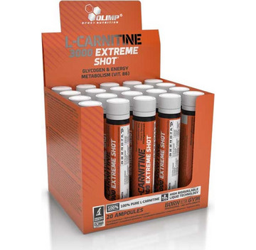 Olimp L-Carnitine 3000 Extreme Shot Πορτοκάλι 20s