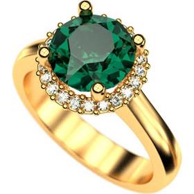 Ασημένιο δαχτυλίδι 925 ροζέτα με πράσινη πέτρα Swarovski AD-16101G1 7e9d20e1ce1
