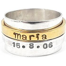 Δαχτυλίδι spinner με όνομα και ημερομηνία d1e90e2305d
