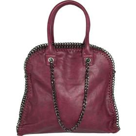 Γυναικεία μονόχρωμη τσάντα ώμου μπορντό δερματίνη 2902B18128H f71d0d1cc04